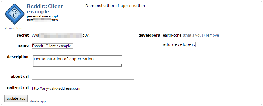 Oauth Setup - Reddit::Client Documentation